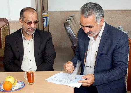 دیدار دکتر سیدجلیل میرمحمدی از اداره آموزش و پرورش میبد + تصاویر