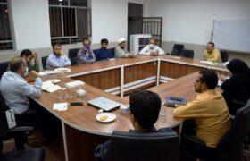 ارائه طرح اقامه نماز توسط روانشناس سرشناس استان در دفتر دکتر میرمحمدی