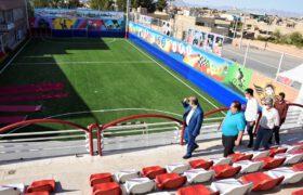 بازدید دکتر میرمحمدی از ورزشگاه تازه ساز مهربد میبد