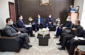 بررسی مشکلات مجتمع نان صنعتی میبد در جلسه با مدیرکل بانک سپه استان یزد