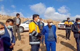 بازدید از مناطق سیل زده در روستاهای شهرستان تفت