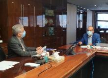 پیگیری مشکلات حوزه انتخابیه در جلسه با وزیر نیرو